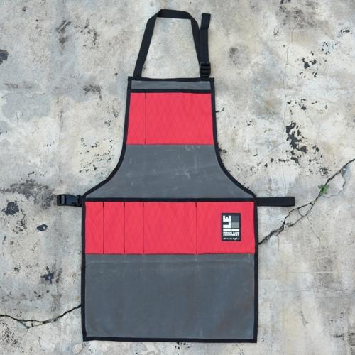 【おすすめ】 インサイドラインエキップメント apron INSIDELINEEQUIPMENT apron waxed grey/x-pac red red [エプロン][ワックスドグレー][レッド], 御用蔵 大川:2d6a6226 --- milklab.com
