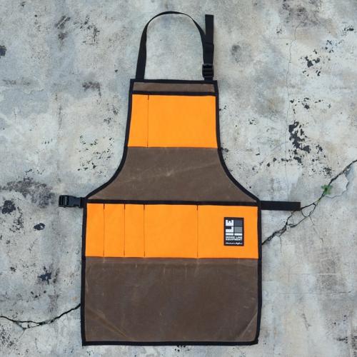インサイドラインエキップメント INSIDELINEEQUIPMENT apron waxed tan/x-pac blaze [エプロン][ワックスドタン][ブレイズ]