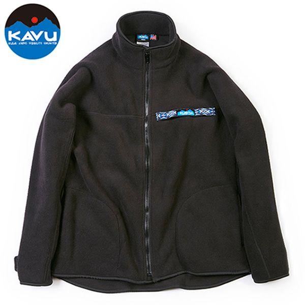カブー KAVU フリース F/Z スローシャツ ブラック [スローシャツ][ロングスリーブ][フリース][11/19 9:59まで ポイント10倍]
