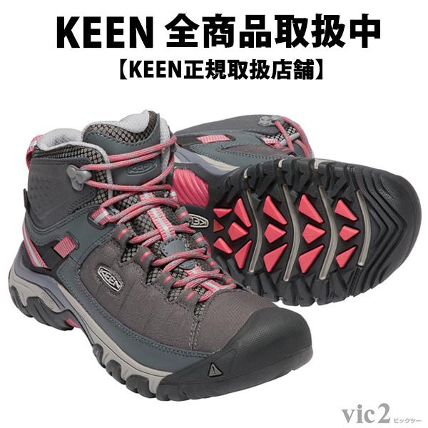キーン KEEN Womens Targhee Exp Mid WP Magnet/Teaberry [ターギー][ミッドカット][防水][トレッキングブーツ][レディース][2018年春夏新作][11/16 9:59まで ポイント10倍]