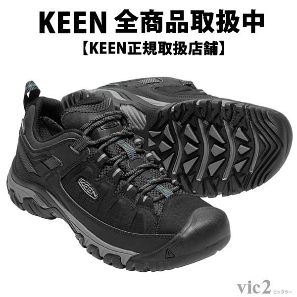 キーン KEEN Mens Targhee Exp WP Black/Steel Grey [ターギー][防水][トレッキングブーツ][メンズ]