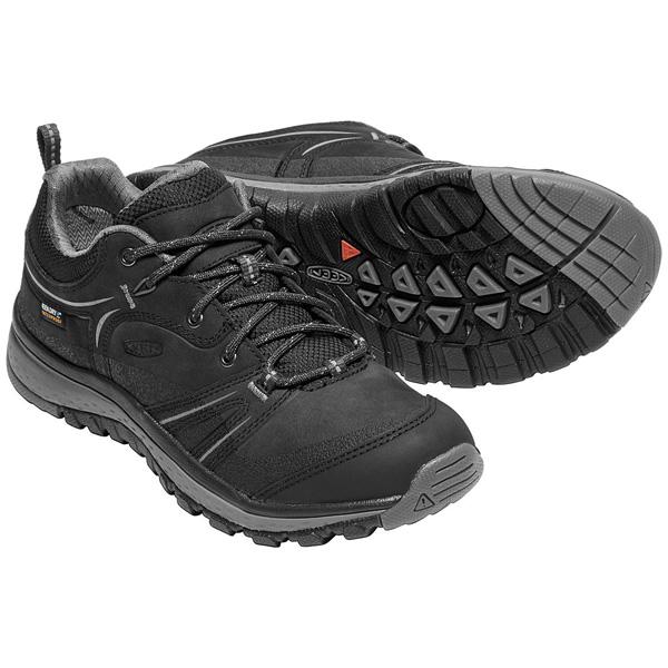 【vic2セール】 キーン KEEN Womens Terradora Leather WP Black/Steel Grey [テラドーラレザー][ウォータープルーフ][防水][レディース][女性用][1018017]