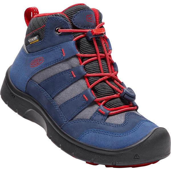 キーン KEEN Youth Hikeport Mid WP Dress Blues/Fiery Red [ハイクポートミッド][防水][冬用ブーツ][レインブーツ][キッズ][子供用][20cm21cm22cm22.5cm23.5cm][1/18 9:59まで ポイント10倍]