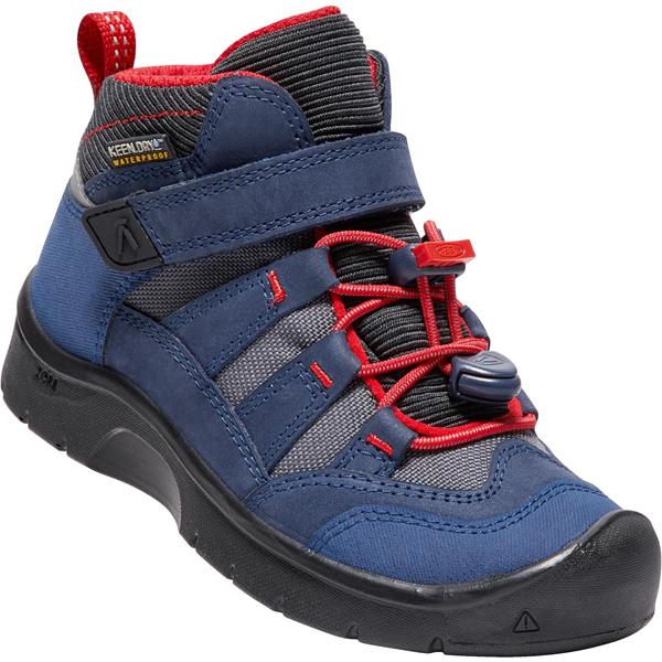 キーン KEEN Children Hikeport Mid WP Dress Blues/Fiery Red [ハイクポートミッド][防水][冬用ブーツ][レインブーツ][キッズ][子供用][15cm16cm17cm18cm18.5cm19.5cm][1/18 9:59まで ポイント10倍]