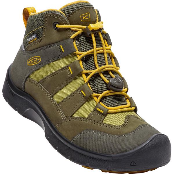 キーン KEEN Youth Hikeport Mid WP Dark Olive/Citrus [ハイクポートミッド][防水][冬用ブーツ][レインブーツ][キッズ][子供用][20cm21cm22cm22.5cm23.5cm][1/18 9:59まで ポイント10倍]