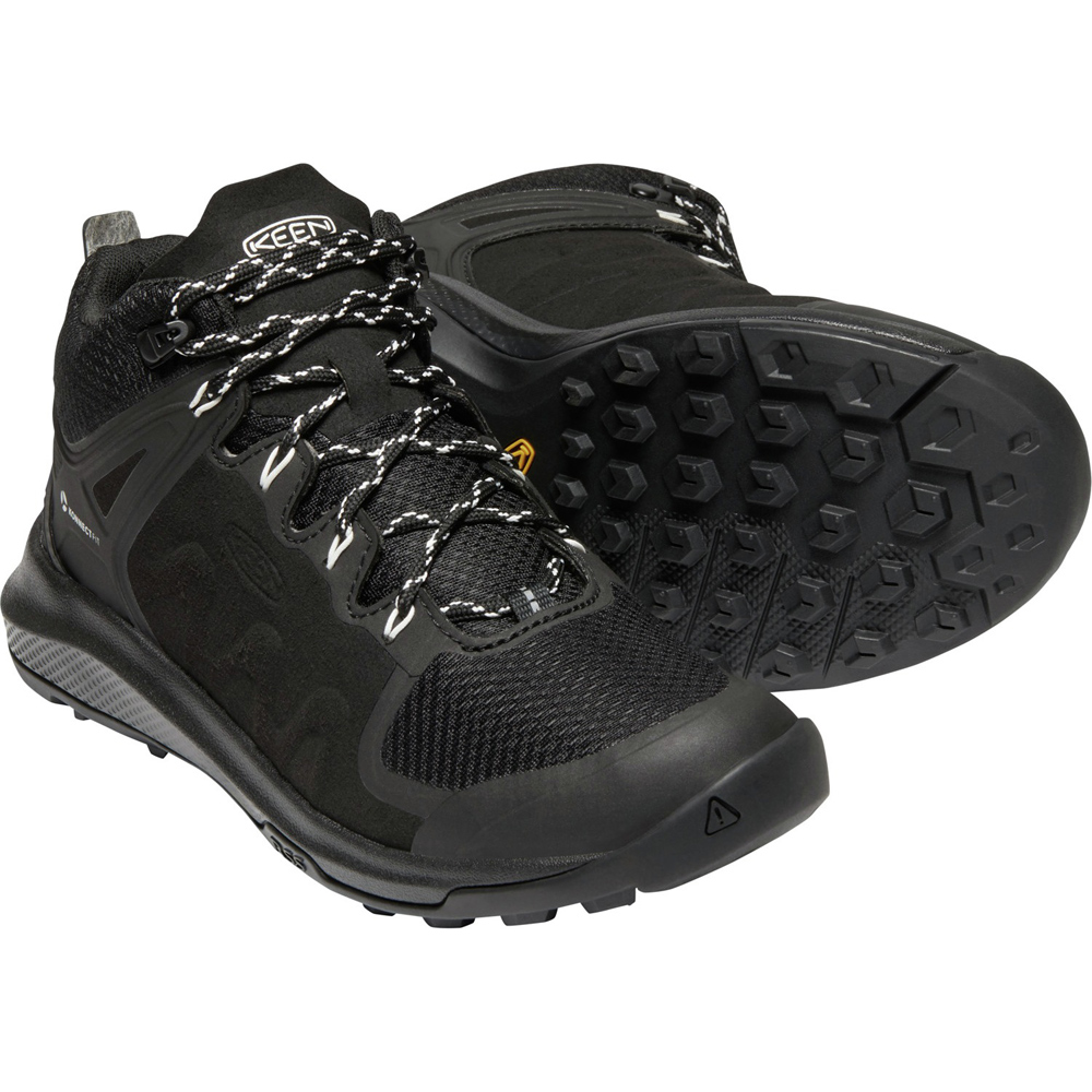 キーン KEEN Womens Explore Mid WP Black/Star White [2019年新作]