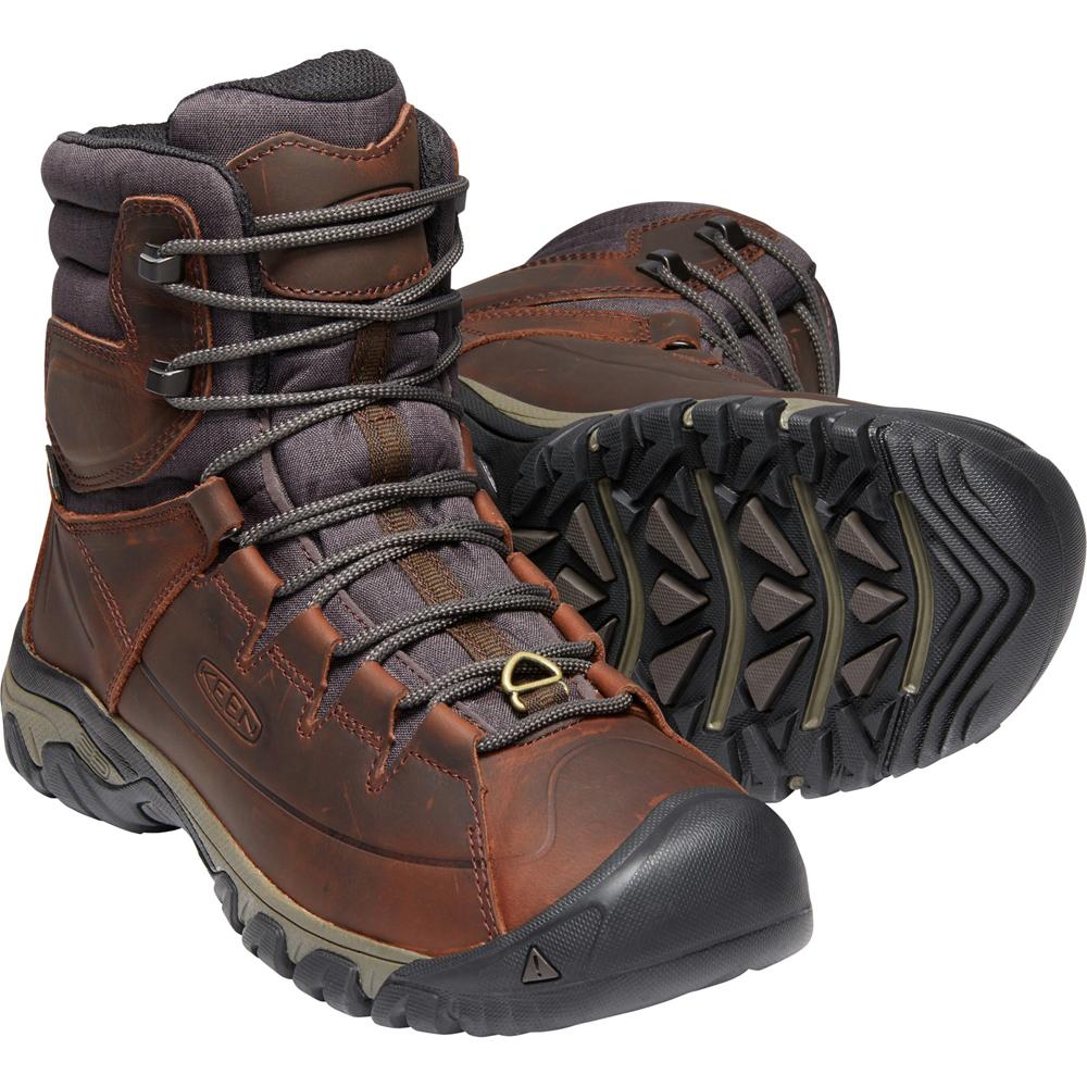 キーン KEEN Mens Targhee Lace Boot High Polar WP Cocoa/Mulch [1019914]