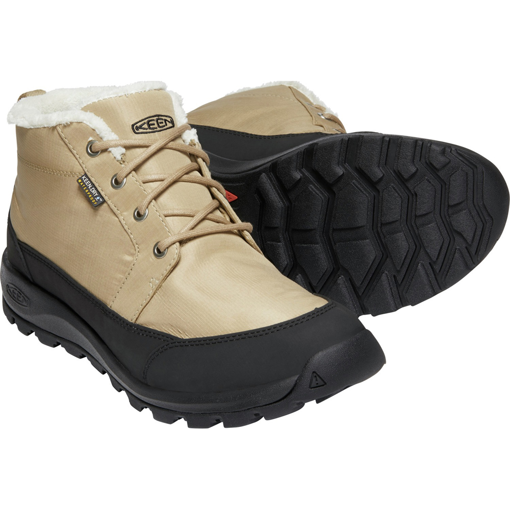 キーン KEEN Mens Glieser Chukka Nylon WP Cornstalk/Black [1021570]