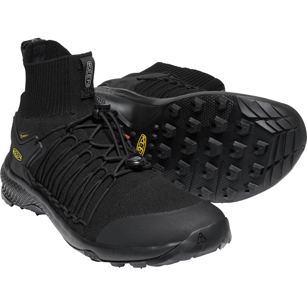 キーン KEEN Mens Explore Uneek Mid Triple Black/Black [1021802]