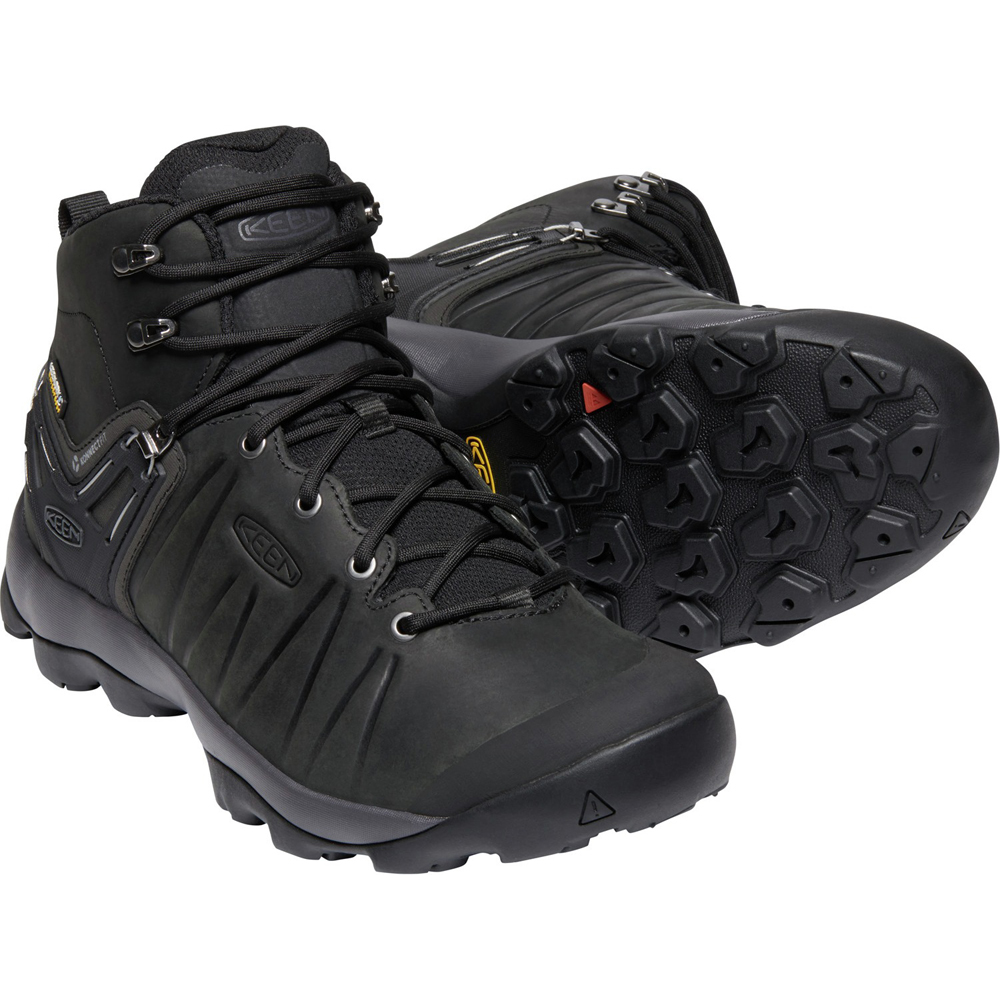 キーン KEEN Mens Venture Mid Leather WP Black/Magnet [2019年新作]