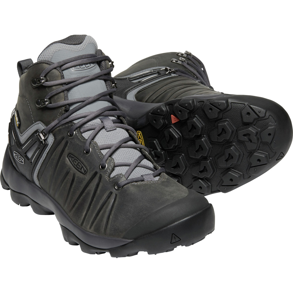 キーン KEEN Mens Venture Mid Leather WP Steel Grey/Magnet [2019年新作]