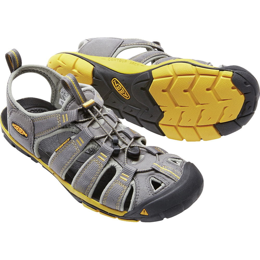 キーン KEEN Mens Clearwater CNX Gargoyle/Super Lemon [2019年新作][7/26 9:59まで ポイント10倍]