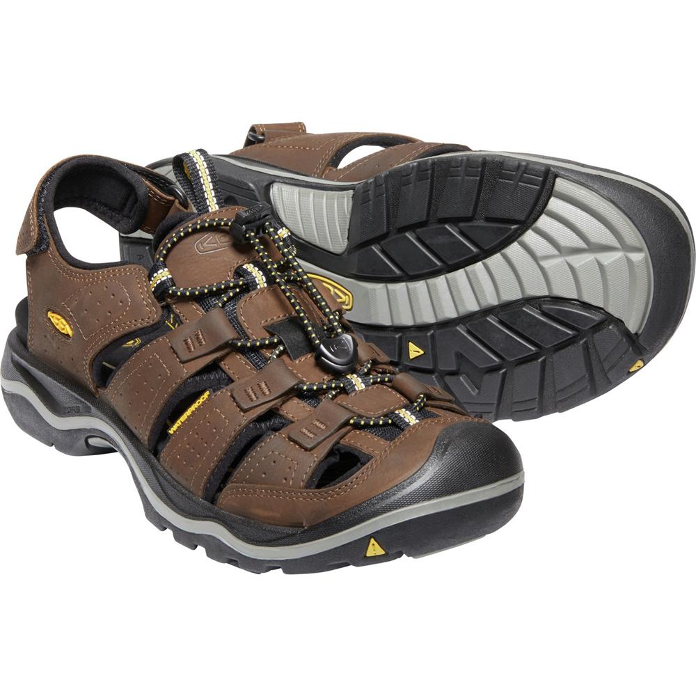 Keen Rialto II Sandals Men Bison/Black 2019 Sandalen braun Outdoor Bekleidung