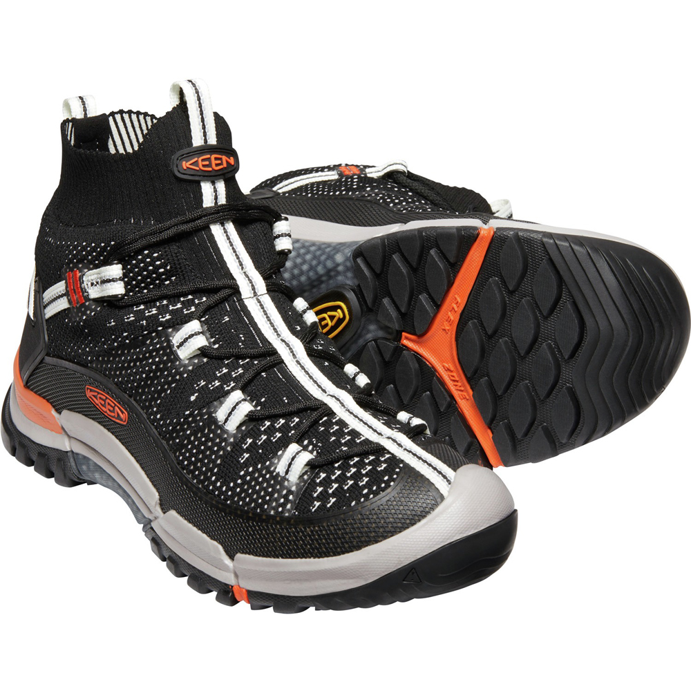 キーン KEEN Mens Axis Evo Mid Black/Flame [1021175]