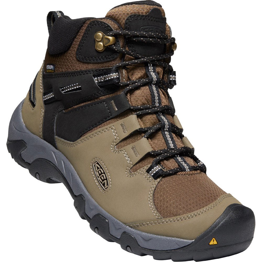 キーン KEEN Mens Steens Mid WP Syn Canteen/Black [1022748][2020年新作]