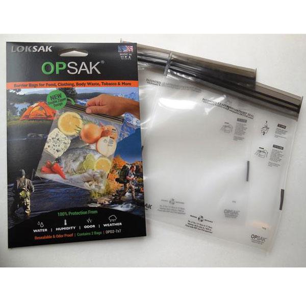 食料の臭いもれ対策 熊や小動物から食料を守る ロックサック LOKSAK 限定タイムセール 授与 2枚入 防臭バック XSサイズ OPSAK
