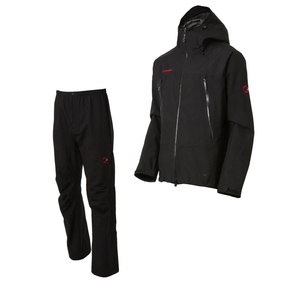 マムート MAMMUT Mens CLIMATE Rain-Suits black-black [レインスーツ][上下セット][メンズ]