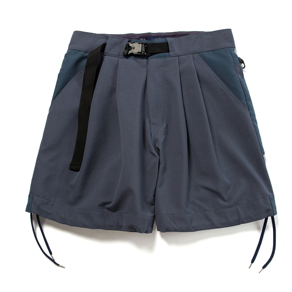【vic2セール】 ミーンズワイル meanswhile Dry Mesh Sack Shorts Navy