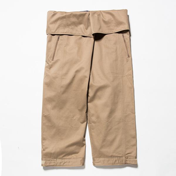 【あす楽対応 平日13:00まで】 ミーンズワイル meanswhile Cotton Chino Wrap Pants Sand Beige [2018年新作][11/16 9:59まで ポイント2倍]