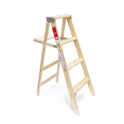 ミシガンラダー michigan ladder Wood Step Ladder Size 4 [メーカー直送品]