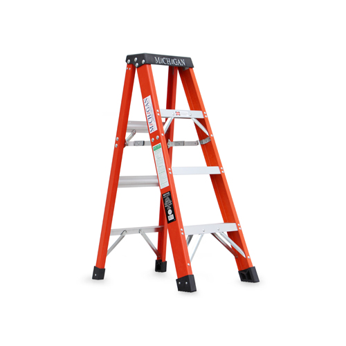 ミシガンラダー michigan ladder Fiberglass Stepladder Size 4 [メーカー直送品]