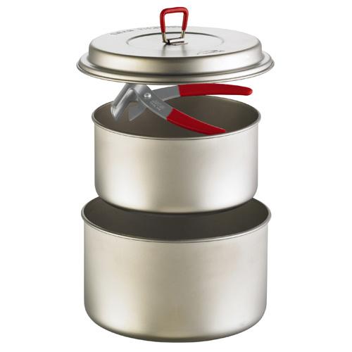 MSR TITAN 2POT SET [チタンツーポットセット][クッカーセット][調理器具][キャンプ用食器][チタン鍋][11/16 9:59まで ポイント3倍]