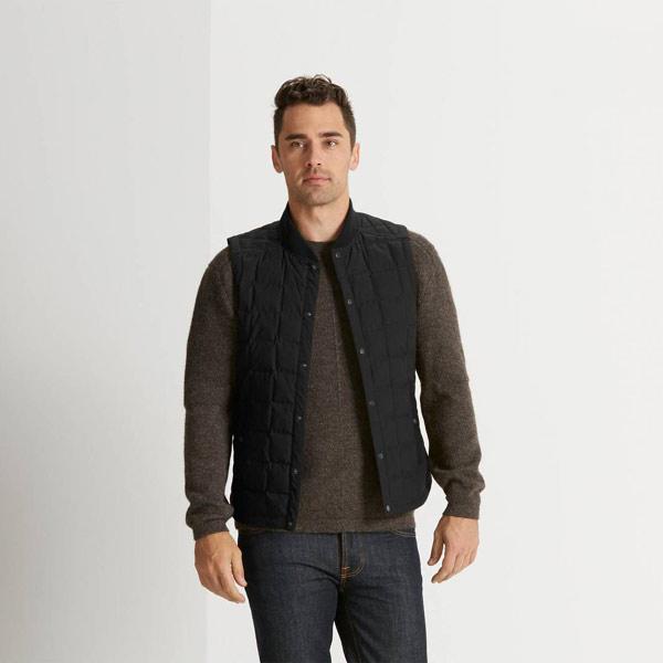 ナウ nau Mens Utility Down Vest Caviar [ユーティリティダウンベスト][メンズ][アウター][インナー][インサレーション][11/16 9:59まで ポイント5倍]