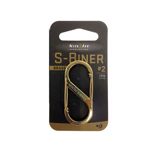到要點10倍的3/15 11:59騎士眼睛NITEIZE S-Biner#2 Brass[karabina][S bina]