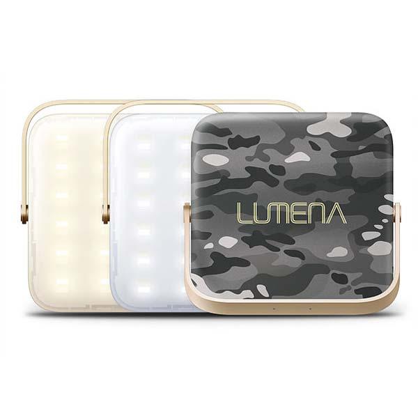 【あす楽対応 平日13:00まで】 ルーメナー LUMENA LUMENA (ルーメナー) LED ランタン 迷彩グレイ [充電式][LEDライト][モバイルバッテリー]