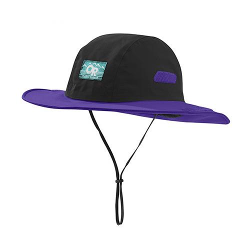 アウトドアリサーチ OUTDOOR RESEARCH Seattle Sombrero Retro Black/Purple Rain [シアトルソンブレロ レトロ][レインハット][帽子][2018年春夏新作][8/16 13:59まで ポイント10倍]