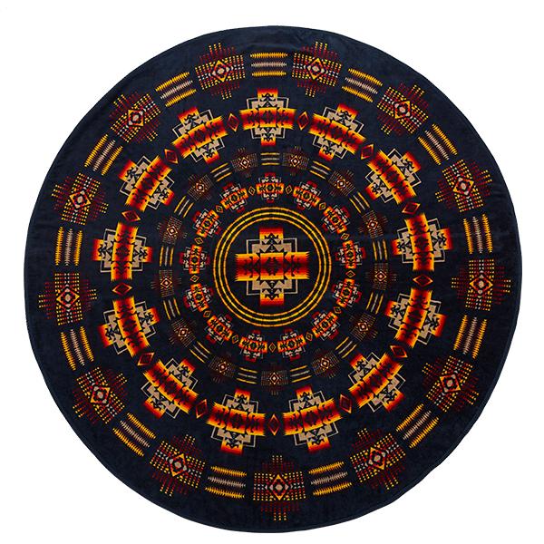 ペンドルトン PENDLETON Printed Round Towel Chief Joseph Indigo [プリンテッドラウンドタオル][チーフジョセフ][インディゴ]