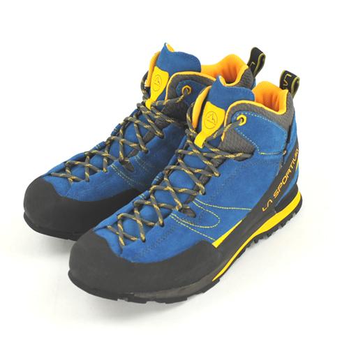 LA 馬總 La 馬總巨石 X 中期藍/黃 [博爾德] [中期削減] [攀岩鞋] [vibramusoool] [戶外鞋]