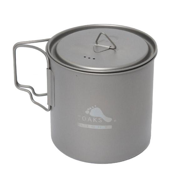 トークス TOAKS LIGHT Titanium 650ml Pot [ライトチタニウム650mlポット][クッカー][鍋][ポット][アウトドア食器]