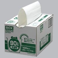 まとめ買い《スズキカコウ》 BM-90N ミミちゃんパック ゴミ袋 半透明 BOX90L 900×1100mm 100枚×4