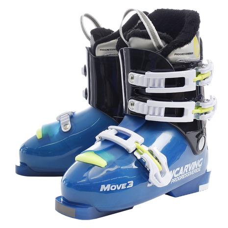スノーカービング(SNOW CARVING) ジュニア スキーブーツ MOVE3 310SC9NS5514 BLU (Jr)