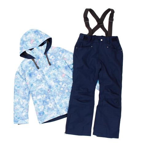 スキーウェア レディース arg nature(arg nature) スキーウェア 上下セット PHANTOM FLOWER スーツ AG93WW1136 SAX (レディース)