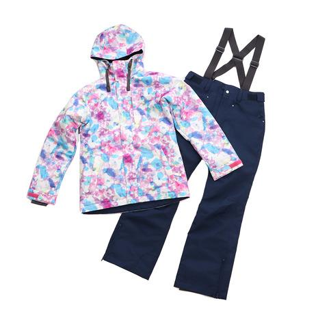 スキーウェア レディース arg 新登場 nature 上下セット FLOWER AG93WW1162 MULTI PNK スーツ 送料無料