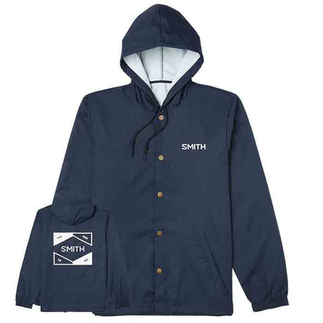 新作製品 世界最高品質人気 25日P+5倍 要エントリー カード決済 スミス ついに入荷 SMITH Hooded Coachs ジャケット メンズ 11305528 NVY