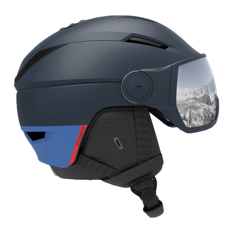 サロモン(SALOMON) スキー スノーボード ヘルメット メンズ スキーヘルメット PIONEER VISOR BLUE 20 408357 PIONEER VISOR (メンズ)