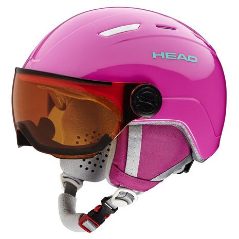 【5/25 0:00-23:59 5のつく日エントリーで5倍~】 ヘッド(HEAD) ヘルメット MAJA Visor pink (Jr)