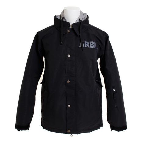 エアボーン(ARBN) COACH ボードジャケット ABJ8102 BLACK スノーボードウェア メンズ (Men's)