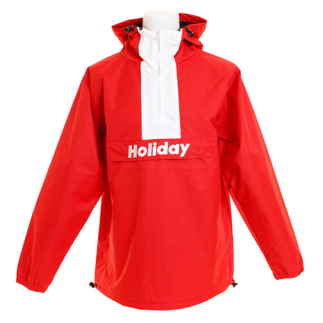 HOLIDAY(HOLIDAY) STANDARD PULLOVER STANDARD PULLOVER-RED スノーボードウェア メンズ (Men's)