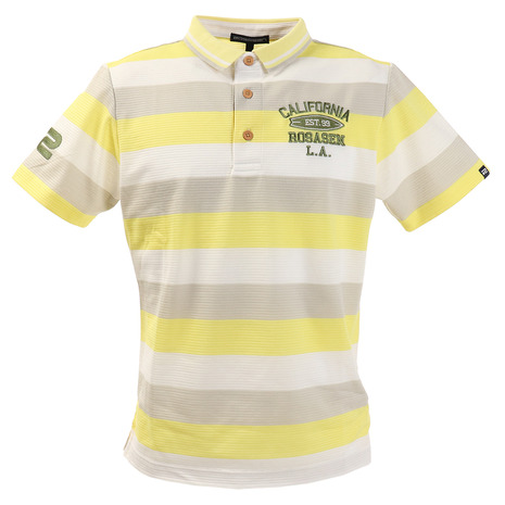 ロサーセン(ROSASEN) ポロシャツ メンズ ボーダー半袖ポロシャツ 044-22243-032 (Men's)