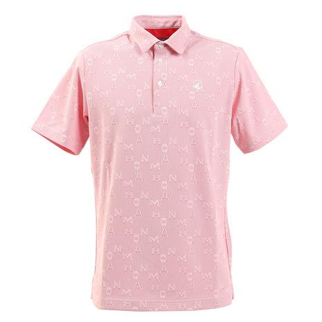 本間ゴルフ(HONMA) ゴルフウエア メンズ ストライプロゴジャカード 半袖シャツ 031-733116-RD (Men's)