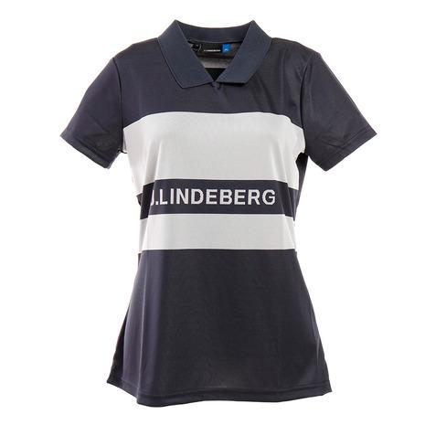 Jリンドバーグ(J.LINDEBERG) ゴルフウエア レディース Corinna-TX ジャカードポロシャツ 072-22340-098 (Lady's)