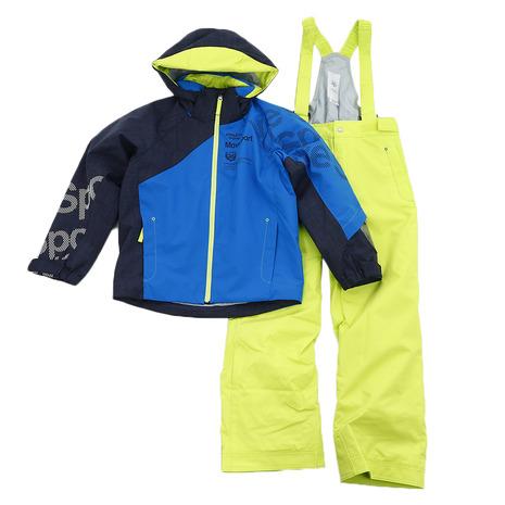 ポイントUP! デサント(DESCENTE) ジュニア スキーウェア スーツ DWJMJH95 ABL (Jr)