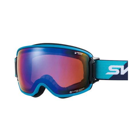 スワンズ(SWANS) RIDGELINE-MPDH-SC-PAF NBL 偏光ミラーレンズ メガネ対応 ゴーグル スキー スノーボード (Men's)
