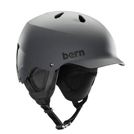 バーン(BERN) TEAM WATTS MATTE GRY BE-SM26T18MGR ヘルメット スキー スノーボード (Men's)