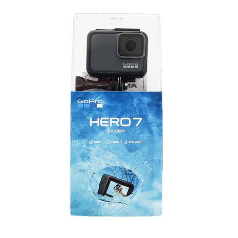 【8/20 0:00-23:59 0のつく日エントリーで5倍~】 GOPRO ウェアラブルカメラ 4K HERO7 シルバー CHDHC-601-FW (Men's)