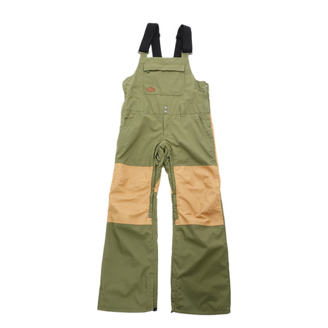 SCAPE スノーボードウェア パンツ OVERALL PANTS 18-19 71118334 MOSS GREEN/CAMEL (Men's)